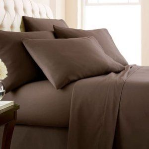 Bamboo Sheets 6 piece set Queen Brown